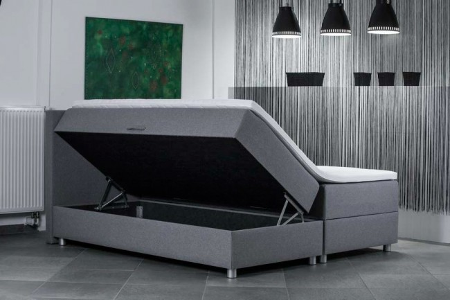 de bedweters boxspring met opbergruimte de bedweters. Black Bedroom Furniture Sets. Home Design Ideas