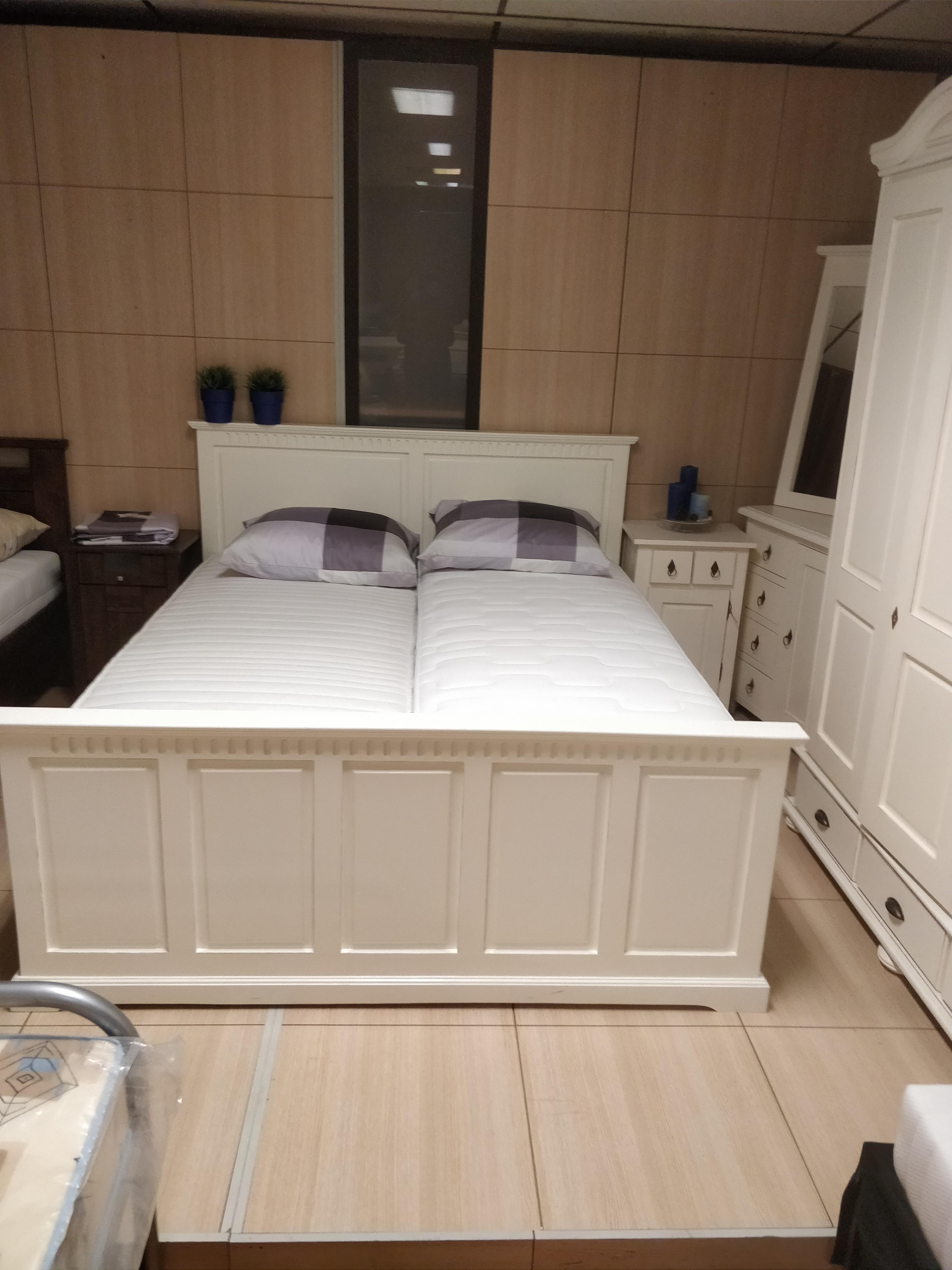 Van Houdt plete slaapkamer Barcelona creme bed 160x200
