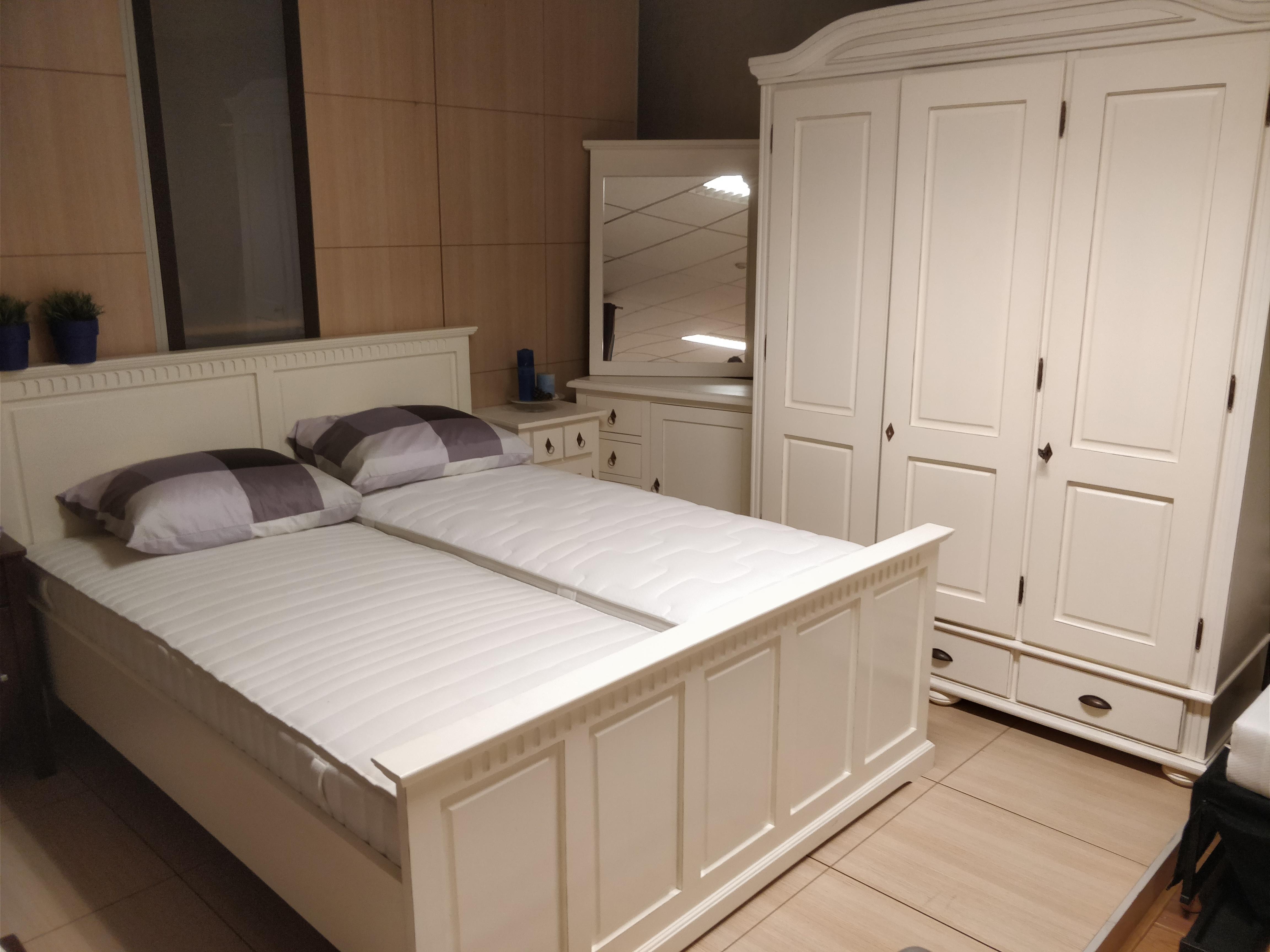 Van houdt complete slaapkamer barcelona creme bed 160x200 for Complete slaapkamers outlet